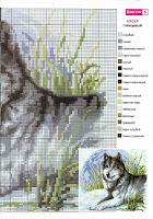 Схемы вышивки волка