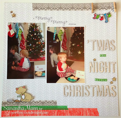 Scrapbook page by Samantha Mann for Newton's Nook Designs