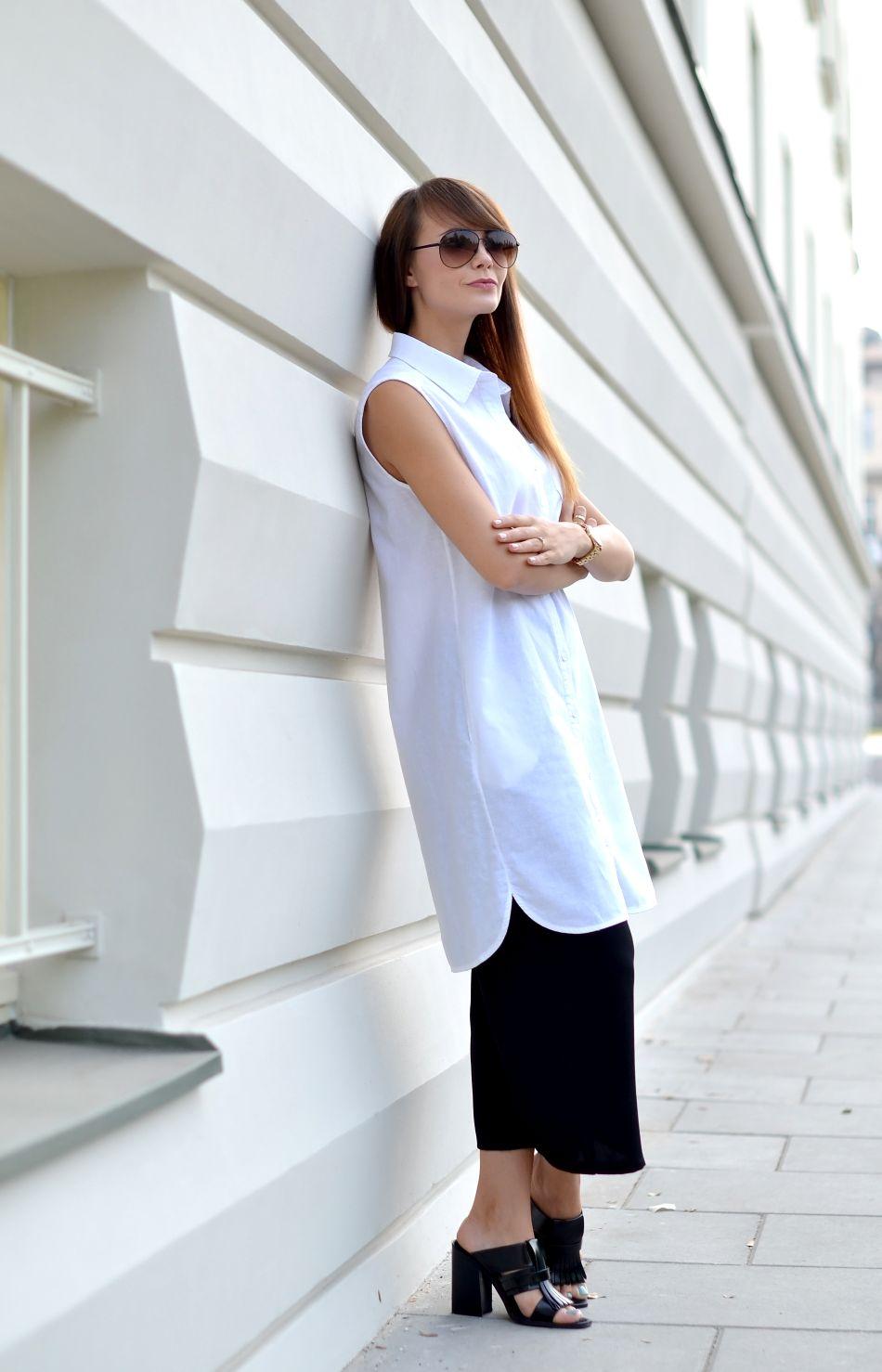 dluga biala koszula | koszula biala | koszula na lato | okulary fossil | spodnie kuloty | co to kuloty | blog modowy | blog z krakowa | najlepszy blog modowy