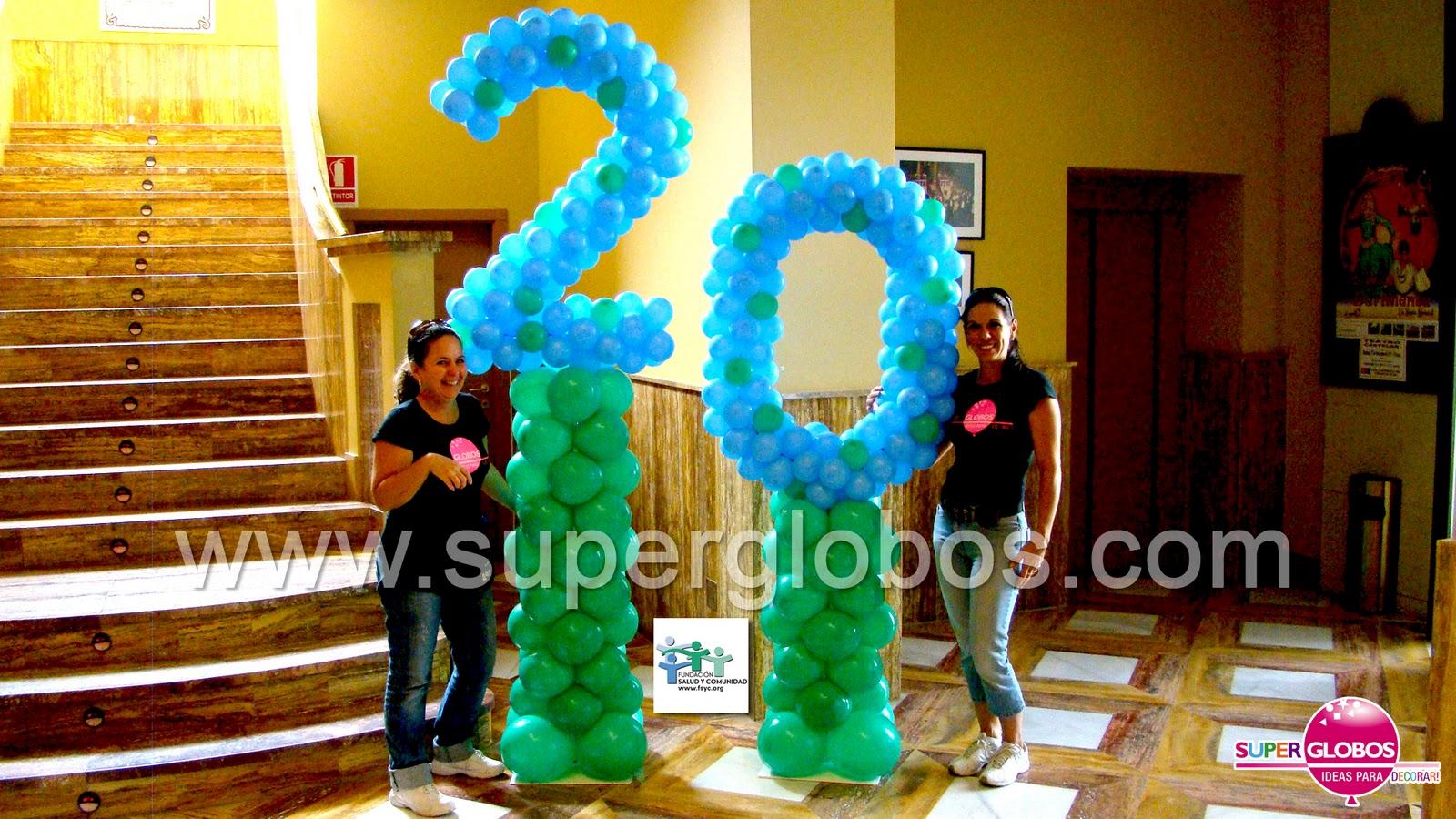 Decoraci n con globos para eventos y fiestas superglobos for Decoracion para aniversario