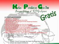 Komunitas Gusdurian Jepara dan Lakpesdam NU Jepara akan mengadakan Kelas Pemikiran Gus Dur