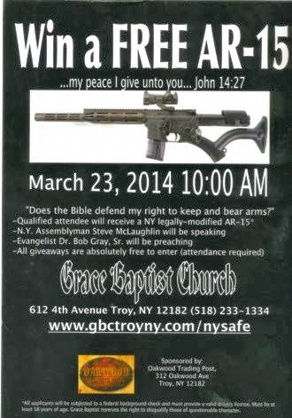 Church To Give Away AR-15 Assault Rifle, Pastor Claims Jesus Supports Guns