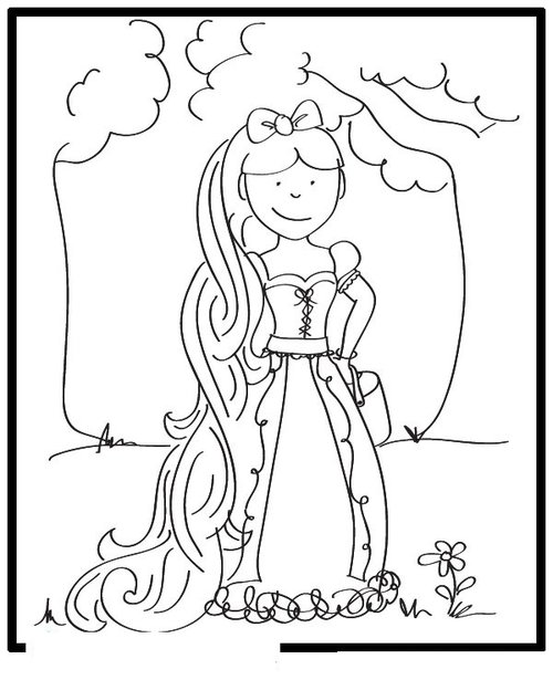 Free Coloring Pages Free Printable Tangled Amp Rapunzel