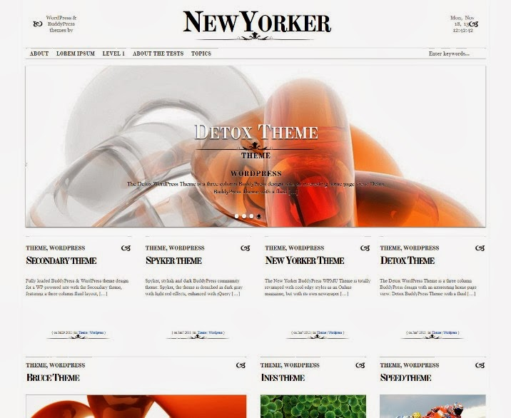 New Yorker BuddyPress Theme