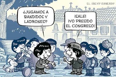 Bandidos y Ladrones. jugando niños