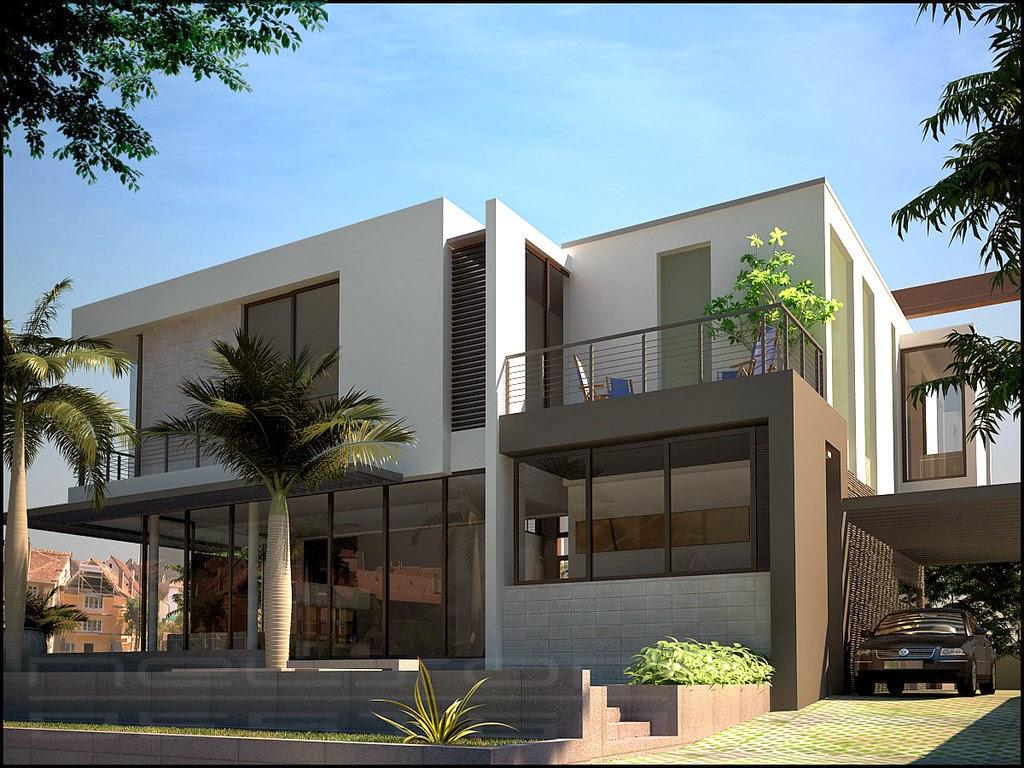Contoh desain rumah minimalis modern yang unik desain for House minimalis