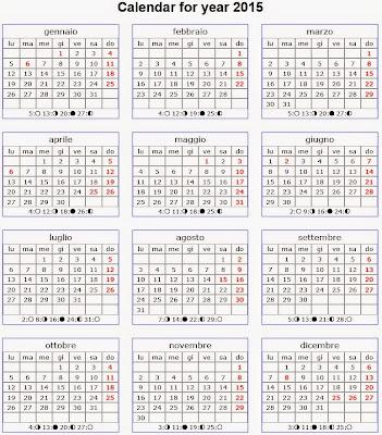 Calendario 2015 annuale duemilaquindici