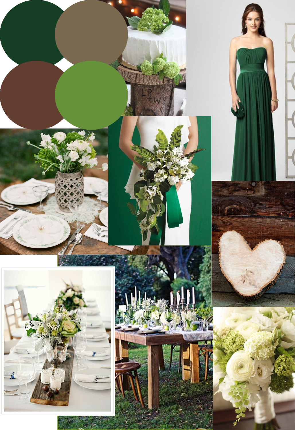 knots and kisses wedding stationery forest green wood