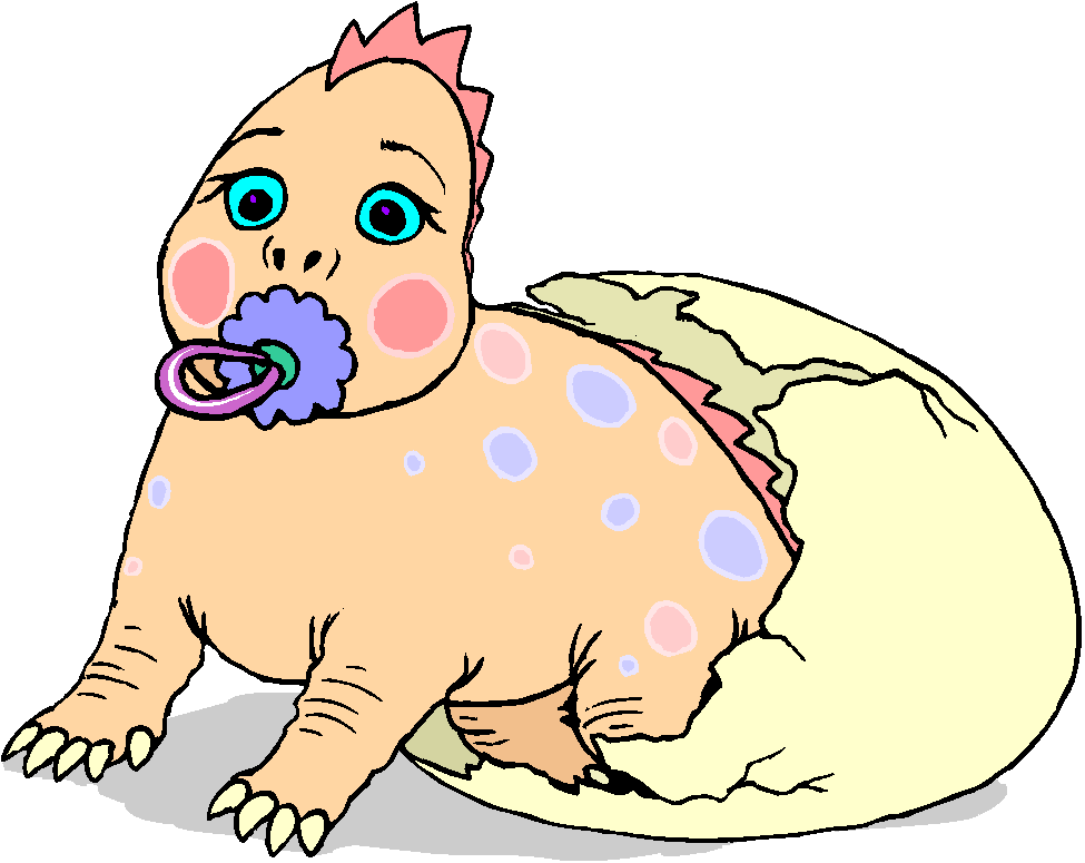 Funny Baby Dinosaurs Free Clipart