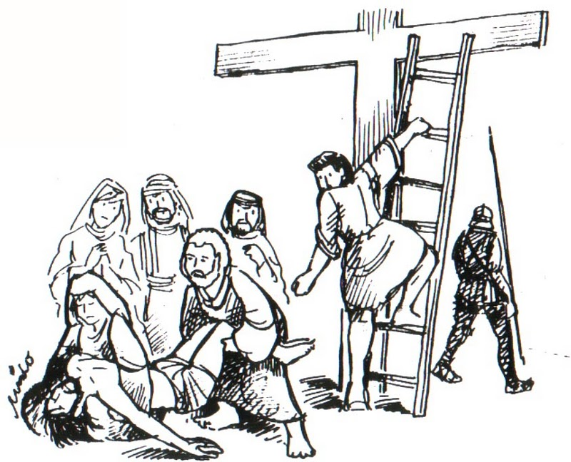 para colorear dibujos de jesus dibujos de semana santa dibujos ...
