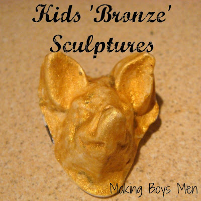 Kids bronze sculptures