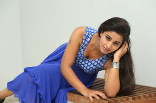 Pavani Looks Glamorous and Beautiful in Blue Deep neck Anarkali Dress at Oh My God Movie Launch