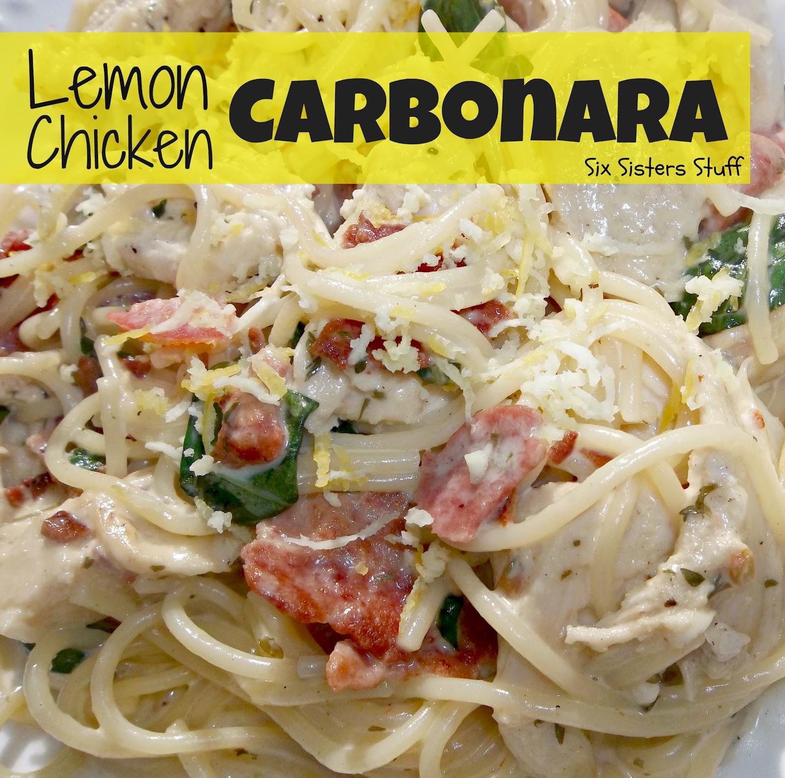 Easy recipe for chicken carbonara