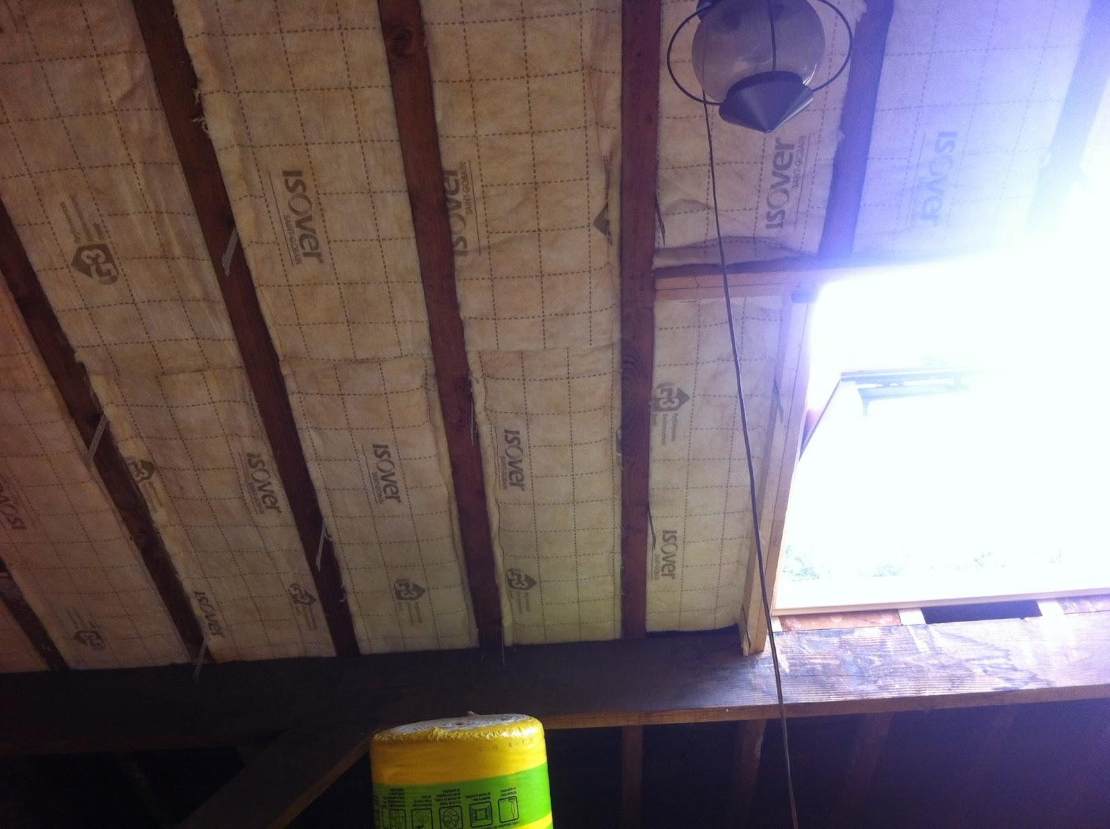 R novation de notre maison faches thumesnil suite de la pose de la 1 re co - Pose laine de verre entre chevrons ...