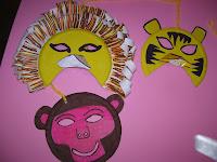 maschera leone - maschera scimmia - maschere con piatti carta - maschera tigre - maschere di carnevale fai da te - lavoretti per bambini con piatti di carta