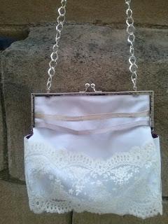 Bolso boquilla y puntillas bolso novia