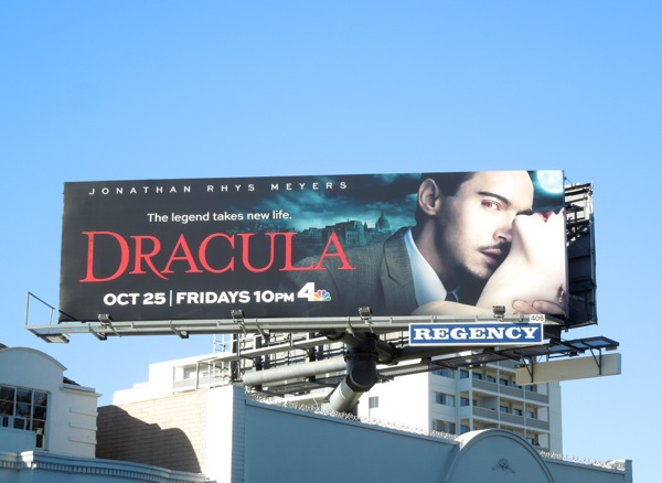 Dracula TV series billboard