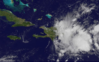 Puerto Rico, Dominikanische Republik, Kuba und Florida: Tropische Welle bringt starken Regen, Atlantische Hurrikansaison, Juli, August, 2012, aktuell, Satellitenbild Satellitenbilder, Radar Doppler Radar, Puerto Rico, Dominikanische Republik, Kuba, Florida, Wettervorhersage Wetter, Punta Cana,