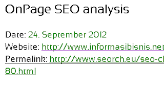 analisa seo on page