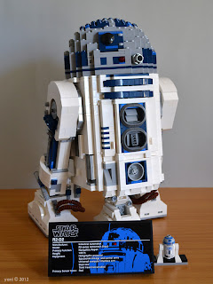 lego r2d2 - eight hours of clicking together lego pieces later...