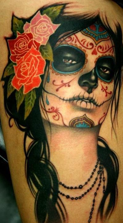 Paty s avessas tattoo catrina for Tattoos mexicanos fotos