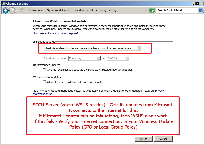 factoryZ: SCCM 2012 - WSUS Issue: Does not work or update - Solved