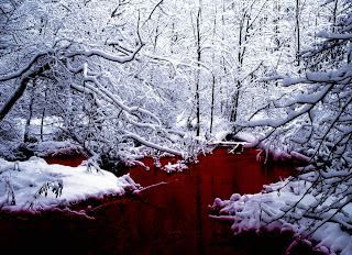 Blood River Dark Gothic Wallpaper