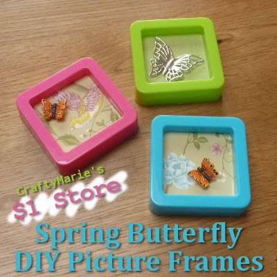 Craftymarie little spring butterfly picture frames for Spring craft ideas for adults