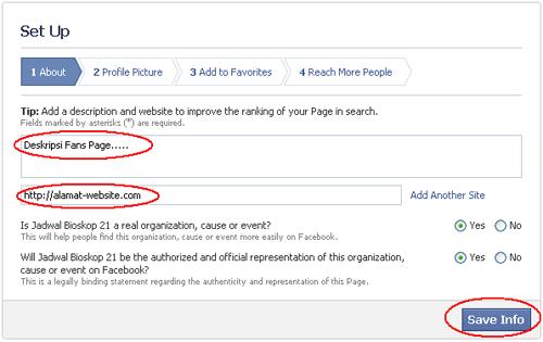 Cara Membuat Fans Page Facebook Deskripsi