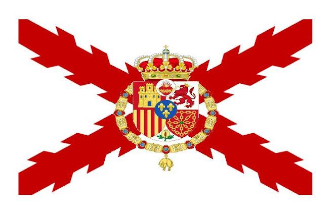 Bandera monárquica legitimista carlista de la Corona de las Españas