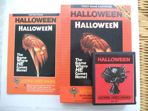 heres the packaging from the original game - Halloween Video Game Michael Myers