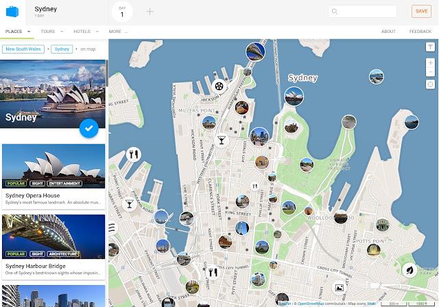 sydney map, tripomatic, sydney tourist map, sydney tourist guide, australia map