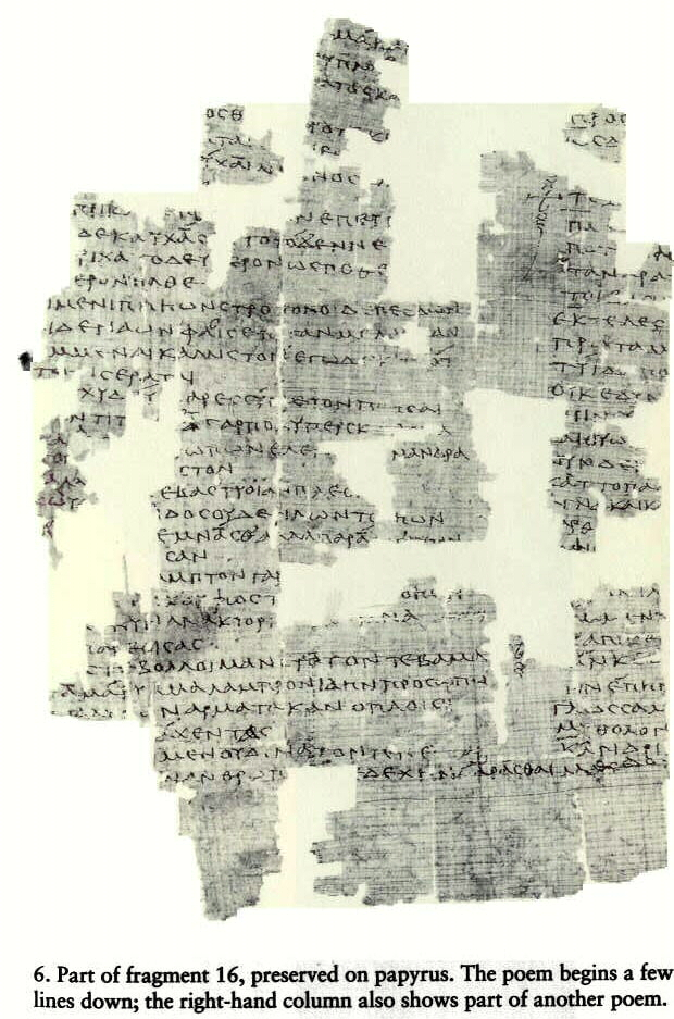 fragment 16 by sappho Scholars are unanimous in construing the second line of this fragment with 'eros' in line 1(1)  coalescent lines sappho leaves us breathless and wondering.