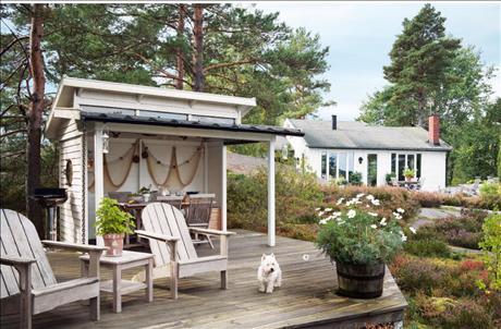 Uteplats uteplats tak : Seaside Style: Skona Hem