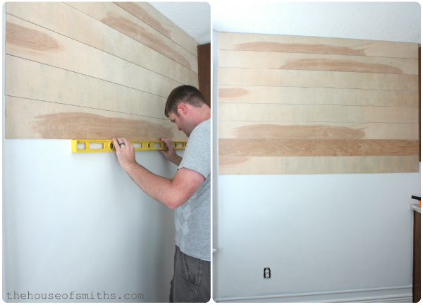 DIY Wood Planked Walls Tutorial