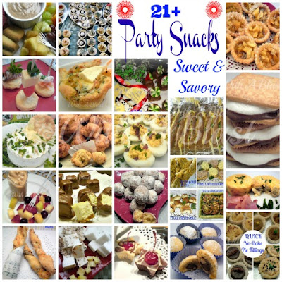With A Blast: 21+ Party Snacks {Sweet & Savory}   #appetizers #savorysnacks #sweetsnacks #savoryplatters #sweetplatters
