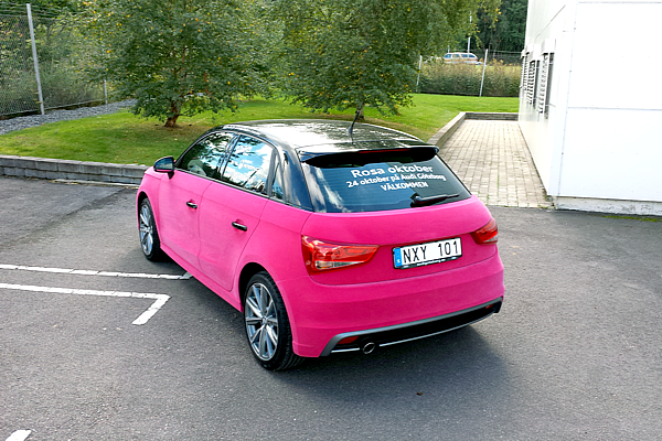 Audi A1 Wrapped In Pink Velvet