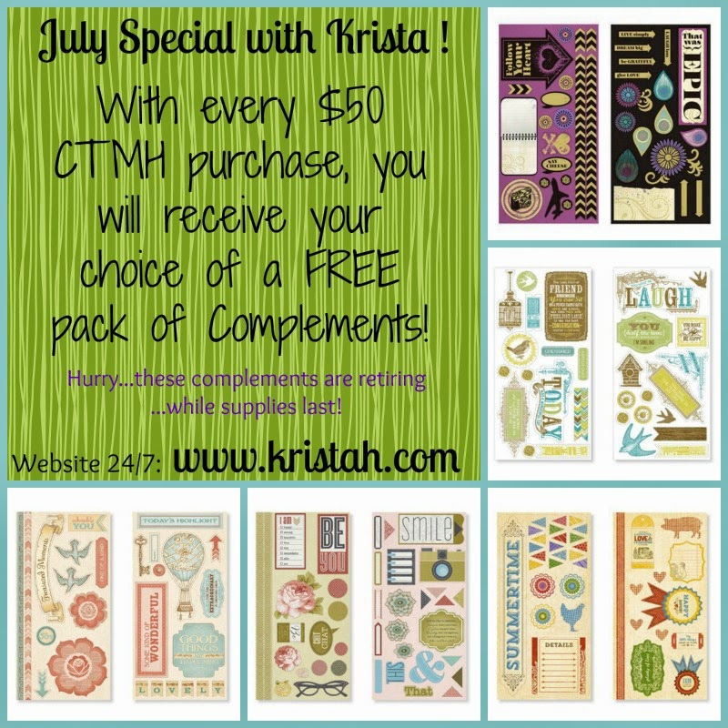 Get your choice of a FREE Complements with a $50 CTMH order!!