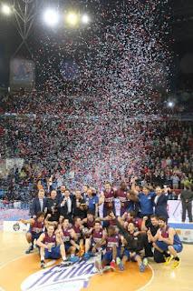 Fotografía de equipo del Barça baloncesto