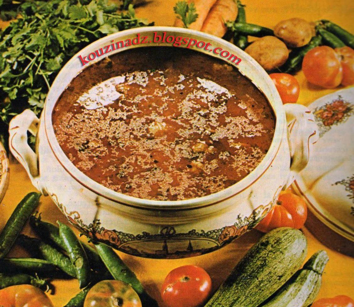 La Cuisine Algerienne: La Cuisine Algérienne: Chorba Hamra