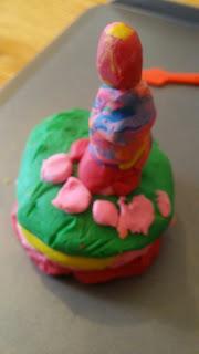 plasticine birthday cake