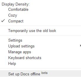 how to set up google docs offline