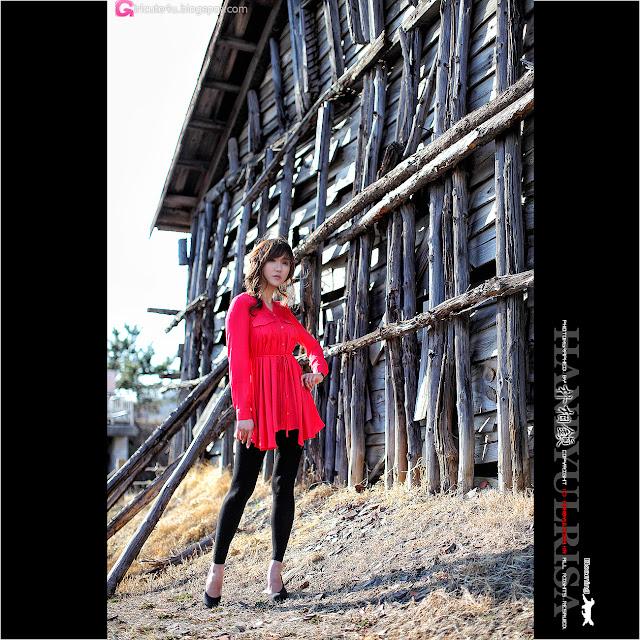 2 Nam Eun Ju in Red-very cute asian girl-girlcute4u.blogspot.com