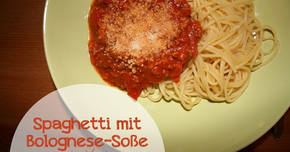 adore2bake spaghetti mit bolognese so e la katha. Black Bedroom Furniture Sets. Home Design Ideas