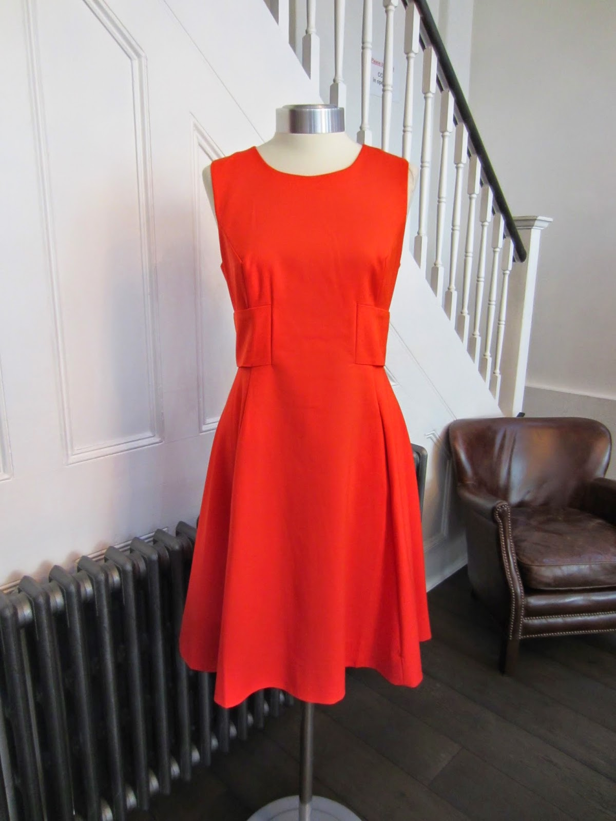 Kate Spade Orange Fit & Flare Dress with Bow