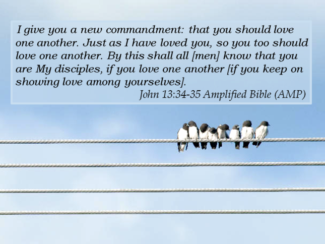 Devotional - John 13: 34-35 - Love one another. As I have loved you!