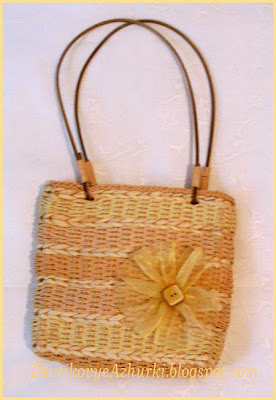 летняя сумочка плетенка