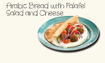 Arabic Bread with Falafel