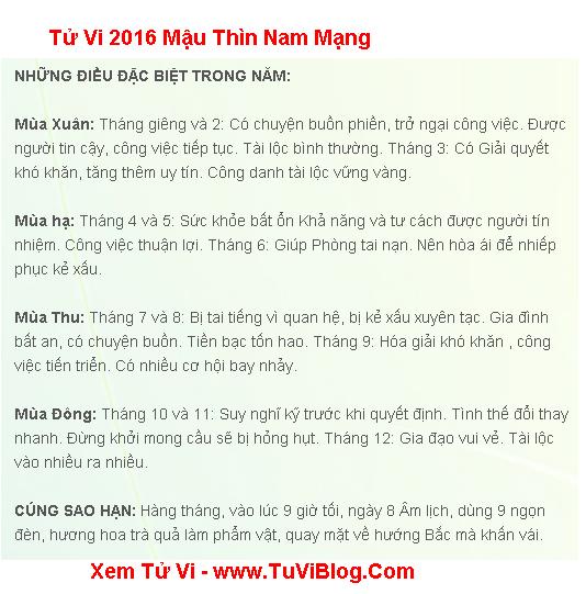 Tuoi Mau Thin 2016