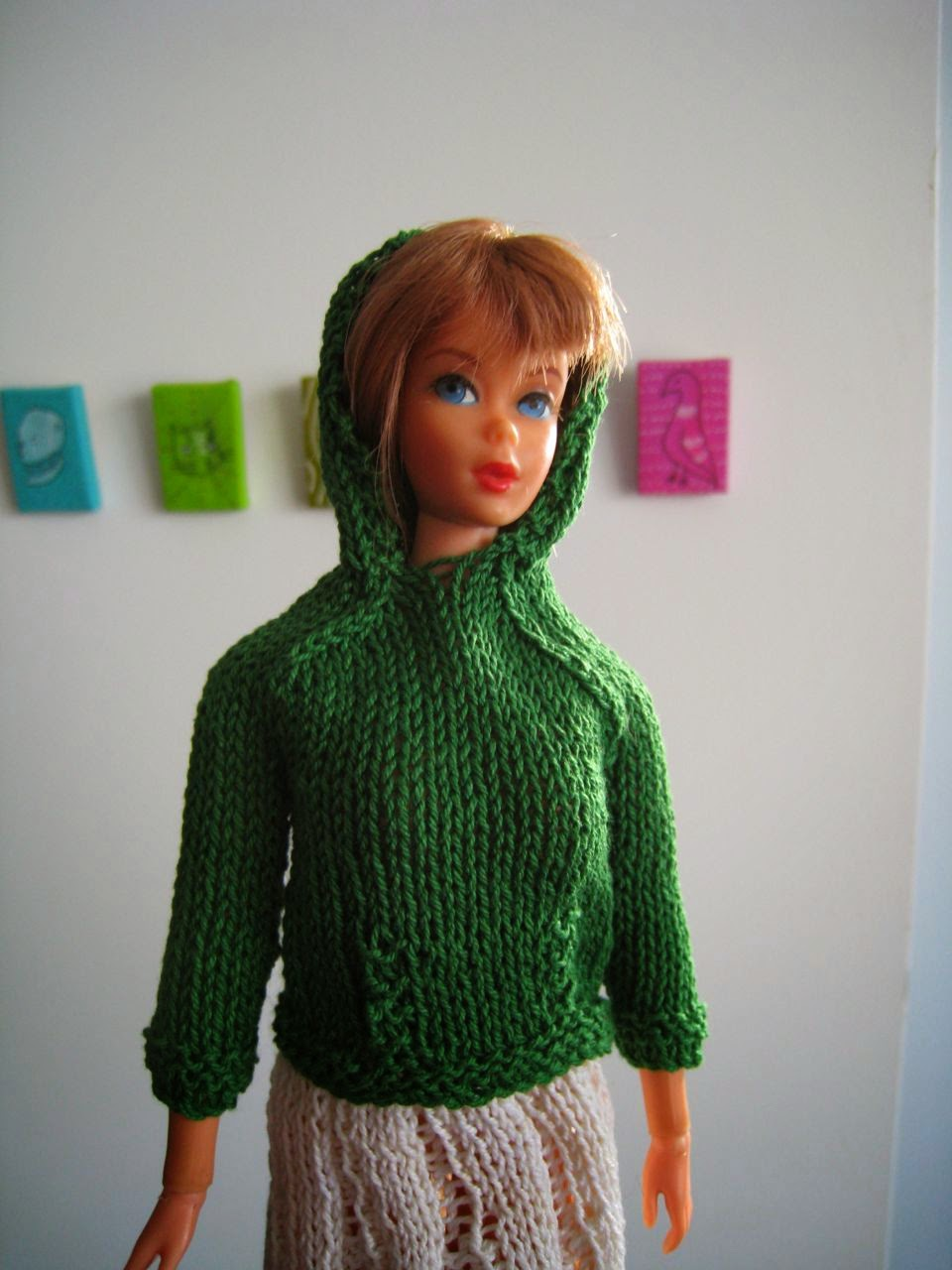 Barbie Knitting Patterns : Best Barbie Knits: Barbie Kangaroo Jacket in #10 Crochet Cotton